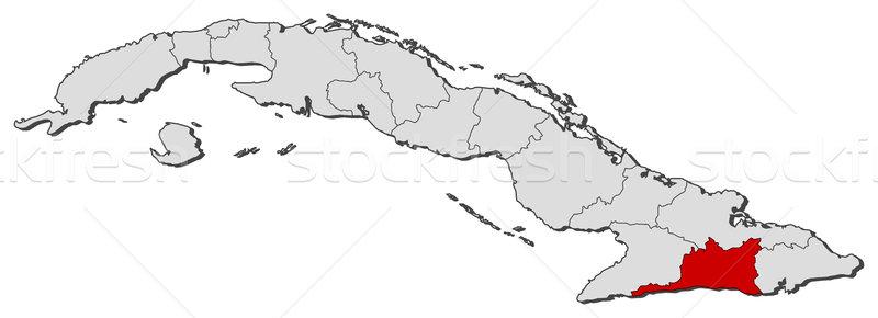 Mapa Cuba Santiago político mundo Foto stock © Schwabenblitz