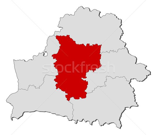 Map of Belarus, Minsk highlighted Stock photo © Schwabenblitz