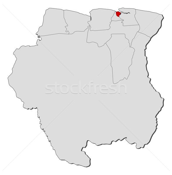Harita Surinam siyasi birkaç dünya soyut Stok fotoğraf © Schwabenblitz