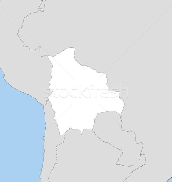 карта Боливия политический несколько аннотация Мир Сток-фото © Schwabenblitz