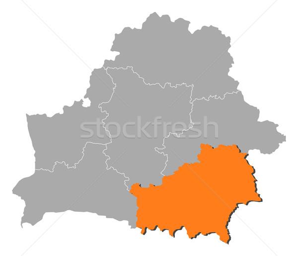 Kaart Wit-Rusland politiek verscheidene abstract achtergrond Stockfoto © Schwabenblitz