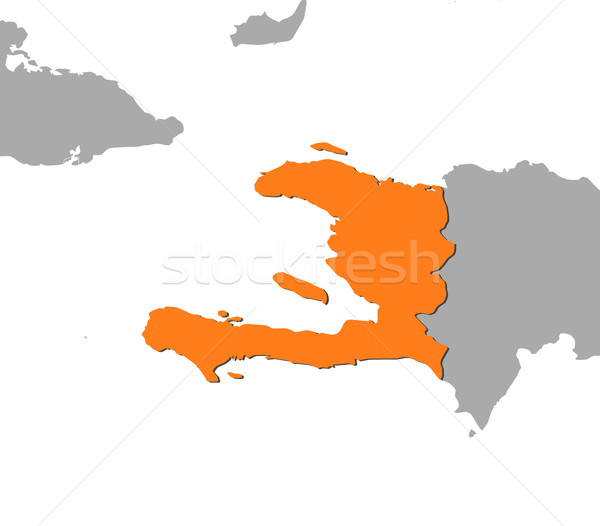 Kaart Haïti politiek verscheidene abstract wereld Stockfoto © Schwabenblitz