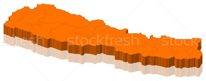 地図 ネパール 政治的 いくつかの 抽象的な 世界 ストックフォト © Schwabenblitz