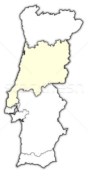 Mapa Portugal região político vários regiões Foto stock © Schwabenblitz