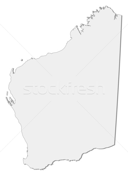 Map of Western Australia (Australia) Stock photo © Schwabenblitz