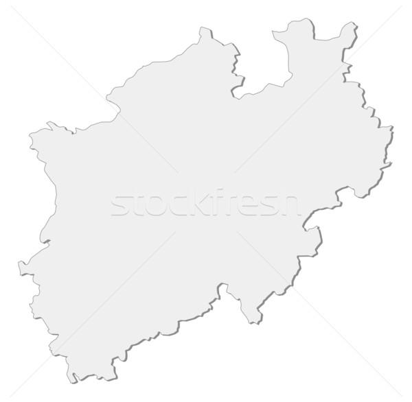 Map of North Rhine-Westphalia (Germany) Stock photo © Schwabenblitz