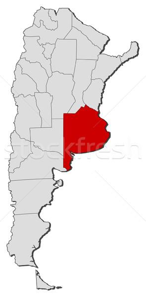 Térkép Argentína Buenos Aires politikai néhány földgömb Stock fotó © Schwabenblitz