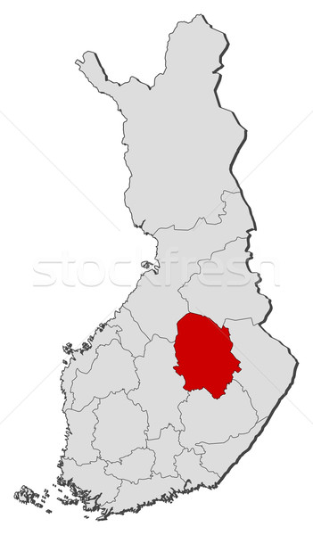 Map of Finland, Northern Savonia highlighted Stock photo © Schwabenblitz