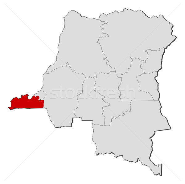 Carte démocratique république Congo politique plusieurs Photo stock © Schwabenblitz