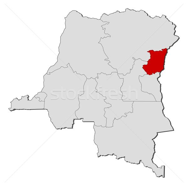 Harita demokratik cumhuriyet Kongo kuzey siyasi Stok fotoğraf © Schwabenblitz