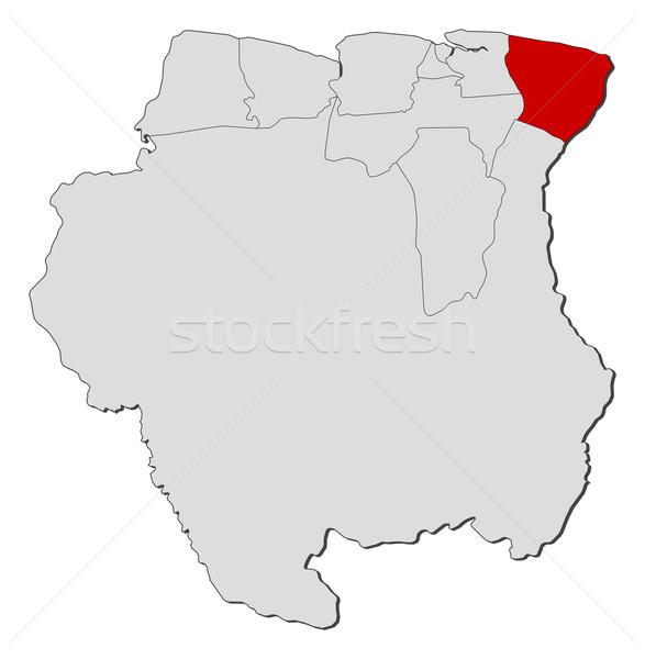 карта Суринам политический несколько мира аннотация Сток-фото © Schwabenblitz