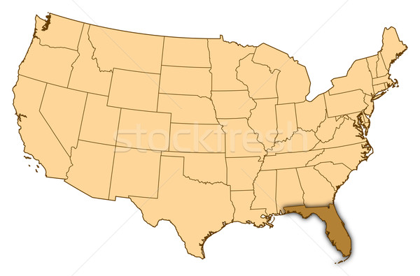 Térkép Egyesült Államok Florida absztrakt háttér kommunikáció Stock fotó © Schwabenblitz