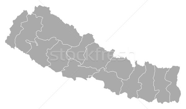карта Непал политический несколько аннотация фон Сток-фото © Schwabenblitz