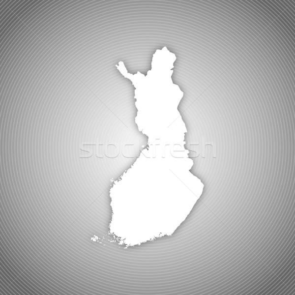 Kaart Finland politiek verscheidene regio abstract Stockfoto © Schwabenblitz