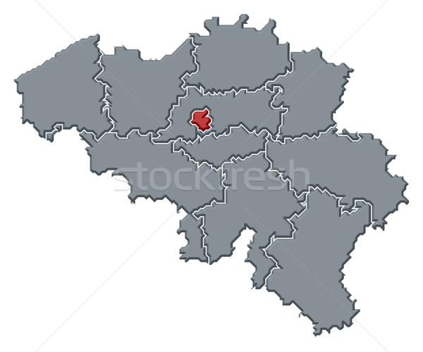 Map of Belgium, Brusseles highlighted Stock photo © Schwabenblitz