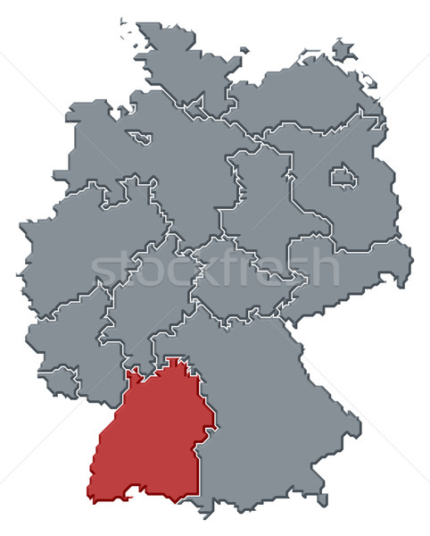 Map of Germany, Baden-W Stock photo © Schwabenblitz
