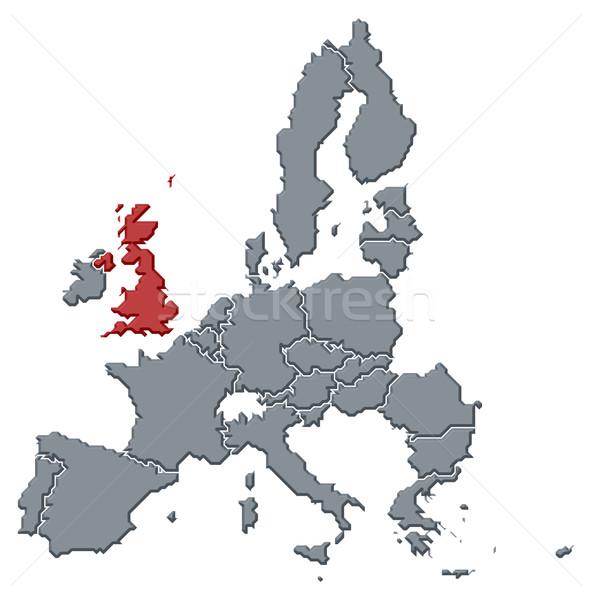 Foto stock: Mapa · europeu · união · Reino · Unido · político · vários