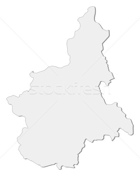 Map of Piedmont (Italy) Stock photo © Schwabenblitz
