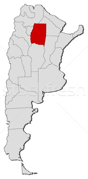 Photo stock: Carte · Argentine · Santiago · politique · plusieurs · monde