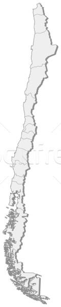 Map of Chile Stock photo © Schwabenblitz