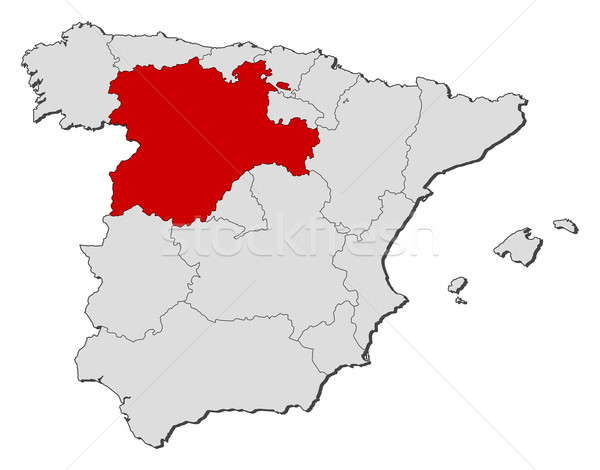 Map of Spain, Castile and Le Stock photo © Schwabenblitz