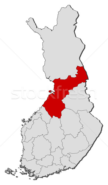 Map of Finland, Northern Ostrobothnia highlighted Stock photo © Schwabenblitz
