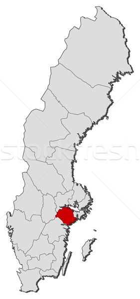 Mappa Svezia politico parecchi mondo abstract Foto d'archivio © Schwabenblitz