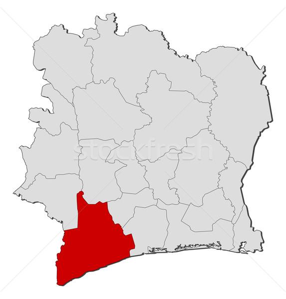 Térkép Elefántcsontpart politikai néhány régiók földgömb Stock fotó © Schwabenblitz