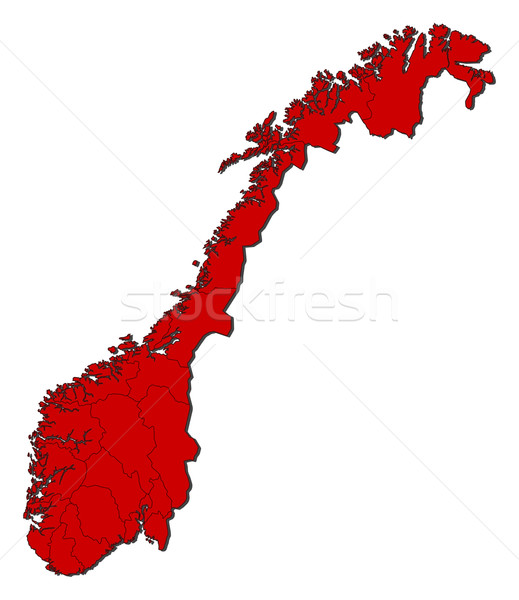 Stock photo: Map of Norway