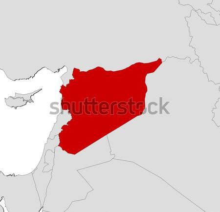 Map of Jordan Stock photo © Schwabenblitz