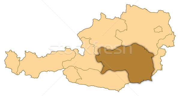 Map of Austria, Styria highlighted Stock photo © Schwabenblitz