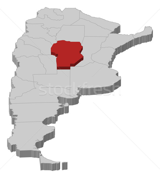 карта Аргентина политический несколько аннотация фон Сток-фото © Schwabenblitz