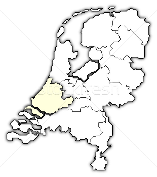 Map of Netherlands, South Holland highlighted Stock photo © Schwabenblitz