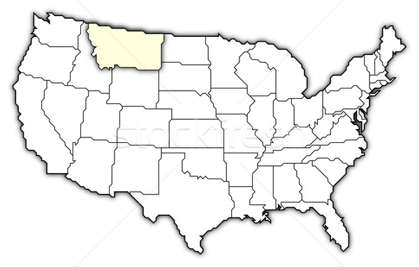 Térkép Egyesült Államok Montana politikai néhány absztrakt Stock fotó © Schwabenblitz