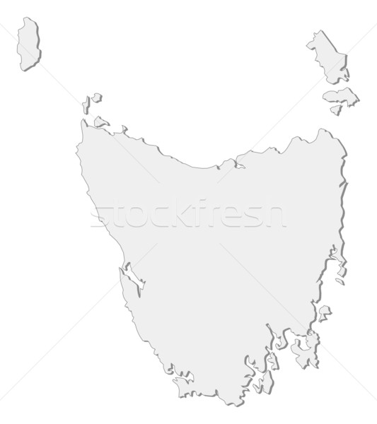 Stock photo: Map of Tasmania (Australia)