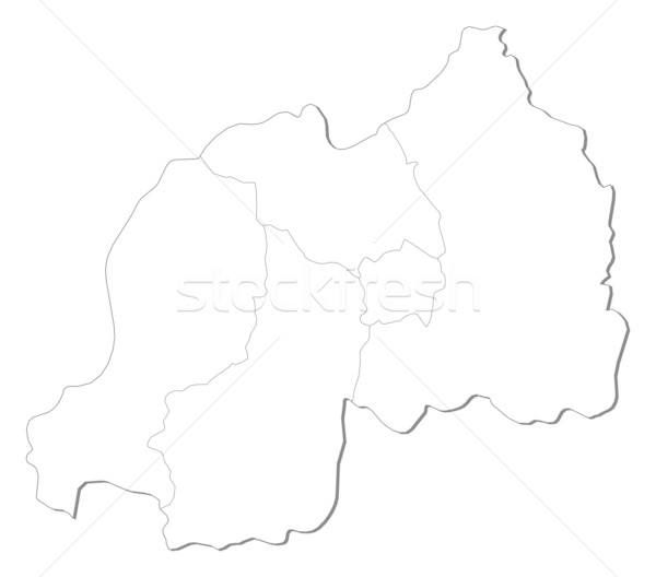 Map - Rwanda Stock photo © Schwabenblitz