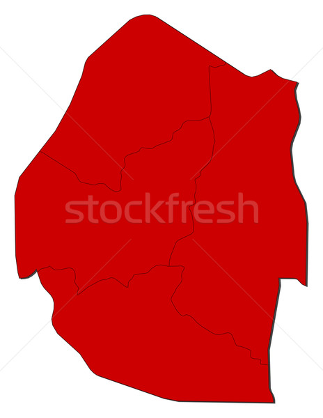 Map - Swaziland Stock photo © Schwabenblitz