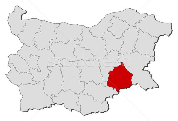 地図 ブルガリア 抽象的な 背景 赤 通信 ストックフォト © Schwabenblitz