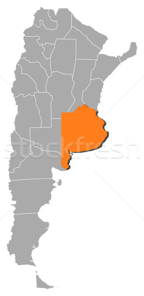 Map Of Argentina Buenos Aires Highlighted Vector Illustration - Argentina map vector