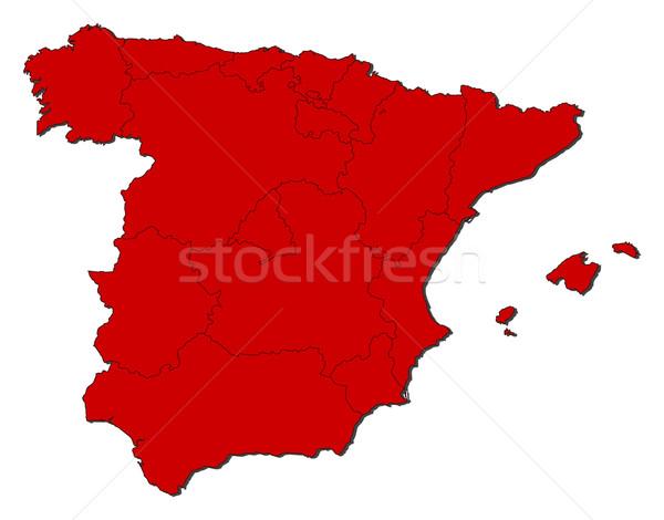 Mapa Espanha político vários regiões abstrato Foto stock © Schwabenblitz