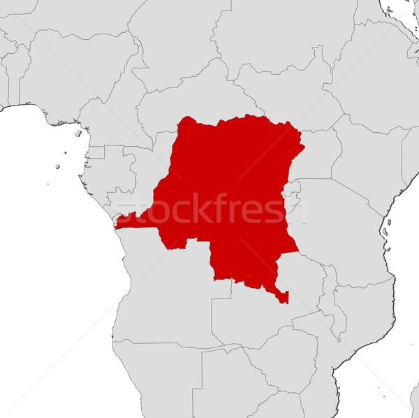 Harita demokratik cumhuriyet Kongo birkaç soyut Stok fotoğraf © Schwabenblitz
