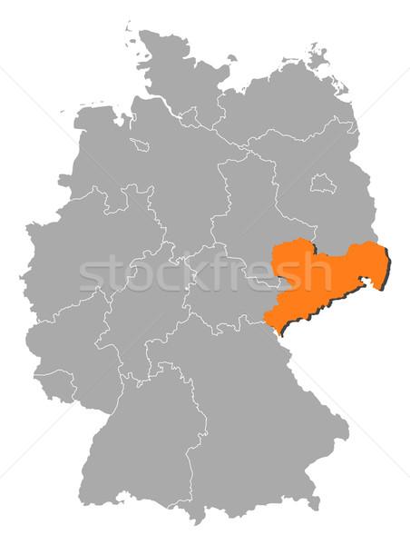 Сток-фото: карта · Германия · политический · несколько · аннотация · фон
