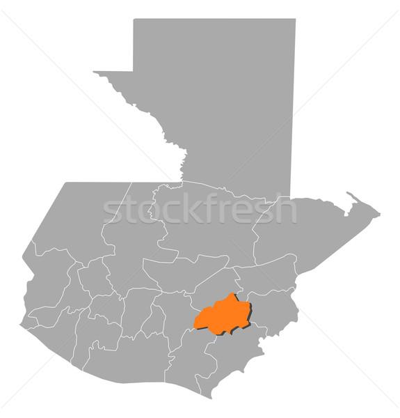 Map of Guatemala, Jalapa highlighted Stock photo © Schwabenblitz