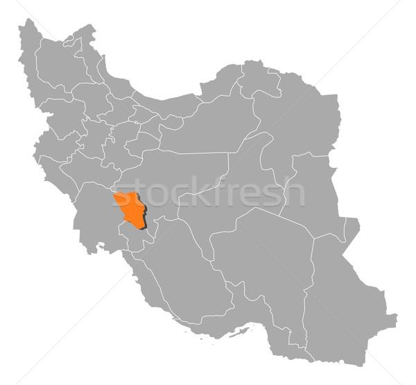 Mapa Irã político vários abstrato fundo Foto stock © Schwabenblitz