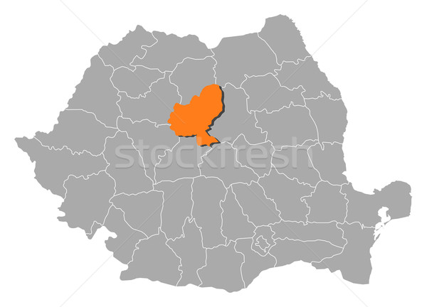 Map of Romania, Mures highlighted Stock photo © Schwabenblitz