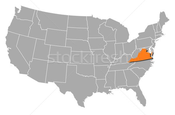 карта Соединенные Штаты Виргиния политический несколько аннотация Сток-фото © Schwabenblitz