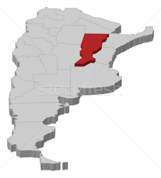Map of Argentina, Santa Fe highlighted Stock photo © Schwabenblitz