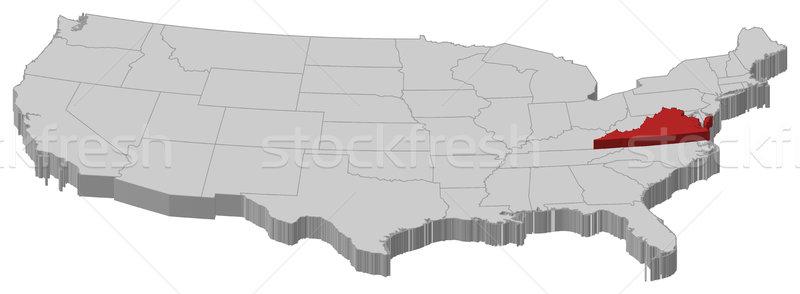 Carte États-Unis Virginie politique plusieurs résumé Photo stock © Schwabenblitz
