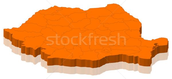 Mapa Rumania político resumen mundo Foto stock © Schwabenblitz
