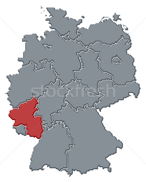 Map of Germany, Rhineland-Palatinate highlighted Stock photo © Schwabenblitz